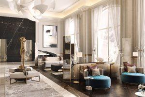 F10 architectural CGI interior lobby