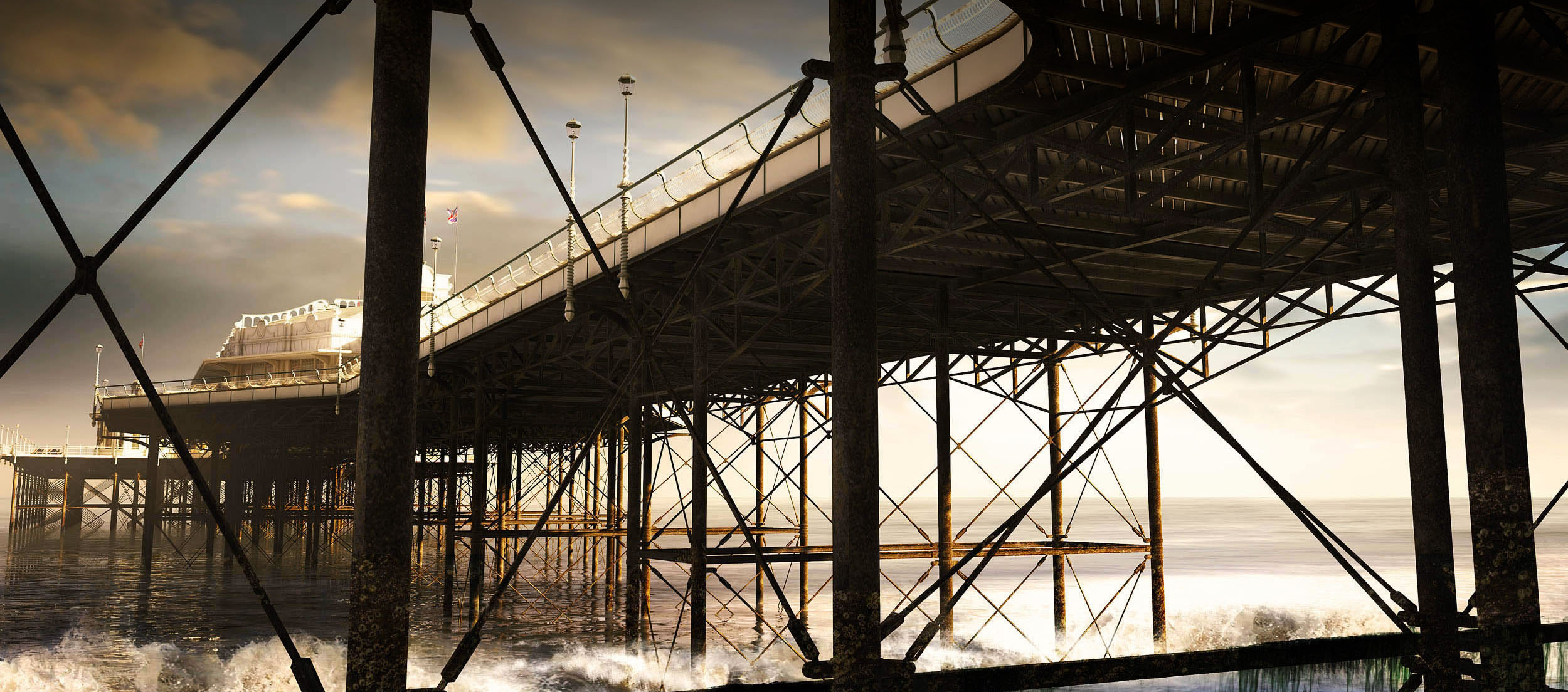 west pier architectural visualisation