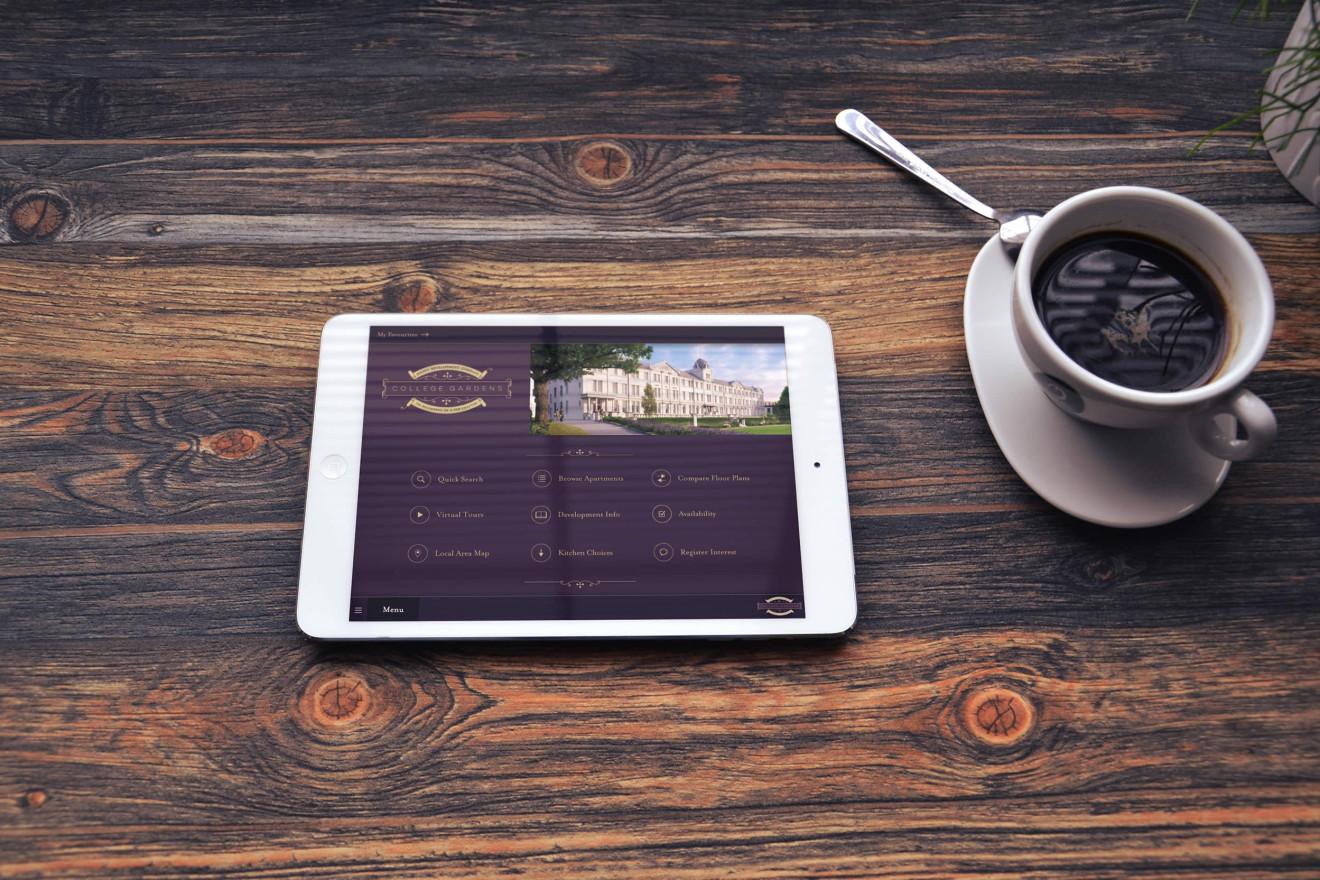 College Gardens iPad Menu