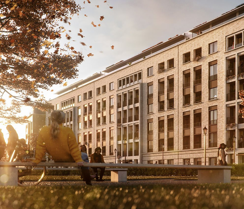Portobello Square Exterior Architectural Visualisation by F10 Studios